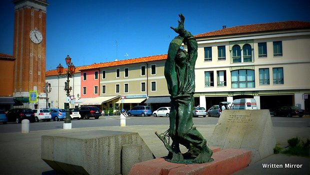 image of statue in murano italy
